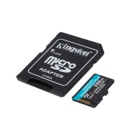 KINGSTON Canvas Go! Plus microSD 256GB UHS-I U3 adapter (SDCG3/256GB) spominska kartica