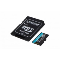 SDXC KINGSTON micro 128GB Canvas Go Plus, 170/90MB/s,  C10, UHS-I, U3, V30, A2, adapter